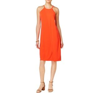 NWT Bar III orange sheath dress